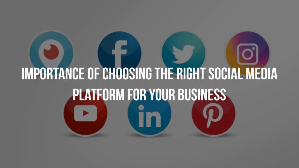 Importance of Choosing Right Social Media Platform for a Business