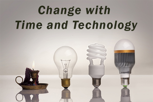 Change with Time and Technology
